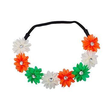 Lux Accessories Floral Flower Crown Stretch Headband