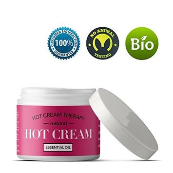 Essential Oil Anti-Aging Cellulite Cream and Massager for Muscle and Joint Pain Reliever Skin Tightening Cream with Pure Organic Aloe Spearmint Frangipani Lavender Hot Cream Moisturizer for Belly Fat