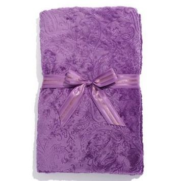 Sonoma Lavender Spa Blankie - Embossed Lavender Paisley