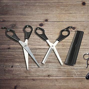 3Pcs Salon Barber Hair Cutting Thinning Shears Scissors Hairdressing Comb Set