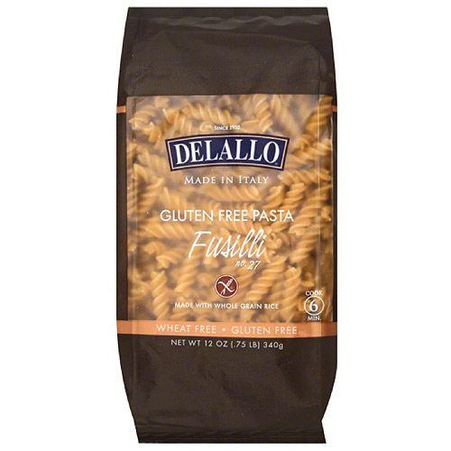 DeLallo Fusilli Gluten Free Pasta, 12 oz, (Pack of 12)