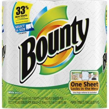 Bounty Paper Towels Value Big Rolls, Select A Size, 2 ea