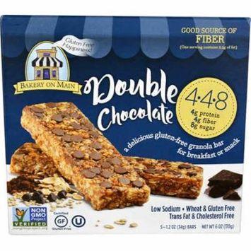 Bakery On Main Gluten Free Granola Bars Double Chocolate -- 5 Bars pack of 4