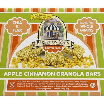 Bakery on Main Gourmet Naturals Apple Cinnamon Granola Bars, 6 oz, (Pack of 6)
