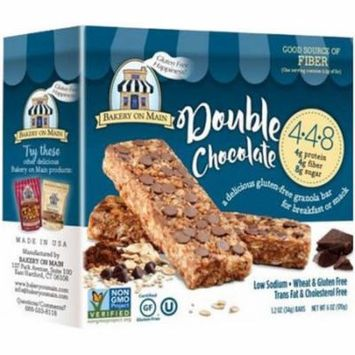 Bakery On Main Double Chocolate Granola Bar, 6 oz, (Pack of 12)