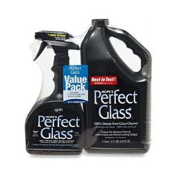 Hope's Perfect Glass Cleaner, 2 Piece, 32 Oz. Spray Bottle and 67 Oz. Refill Bottle