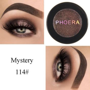 Exteren Natural Eye Shadow Makeup Shimmering Cosmetic Pearl Metallic Smoky Eyeshadow Palette