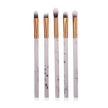 5 Pcs Marble Texture Makeup Brush Foundation Concealer Powder Eyeshadow Eyebrow Brush WensLTD