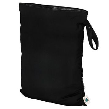 Planet Wise Wet Diaper Bag, Black, Small