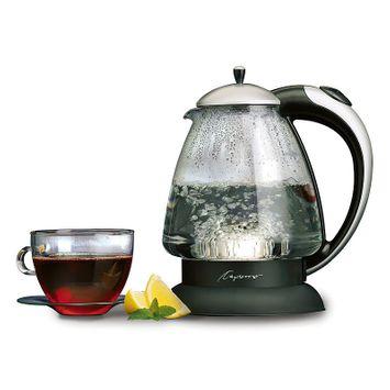Capresso H2O Plus Glass Water Kettle - Matte Black/Silver
