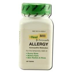 Frontier Heel BHI Allergy Homeopathic Medication - 100 Tablets