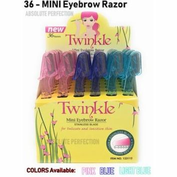Twinkle (NOT Tinkle) Eyebrow Shaver Razor Bikini Trimmer Shaper Sensitive & Delicate Skin Hair Removal 36 Pieces MINI