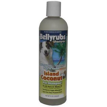 BellyRubs Organic 12-Ounce Pet Shampoo, Island Coconut