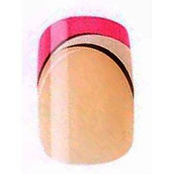 2x Set of Cala Professional Fashion Nails in Natural with Pink and White Tips # 88404 + Aviva Eco Nail File