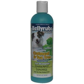 BellyRubs Organic 12-Ounce Pet Shampoo, Oakmeal and Tea Tree
