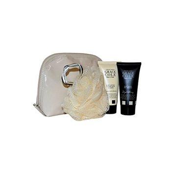 Grace Cole Fresh Linen 4-Pc Body Beautiful Bathing Set: Wash Lotion Polisher Bag by Grace Cole
