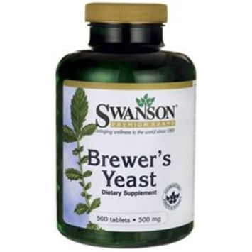 Brewer's Yeast 500 mg 500 Tabs by Swanson Premium
