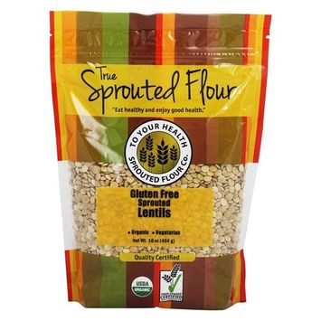 Organic Gluten-Free Sprouted Lentils - 16 oz.