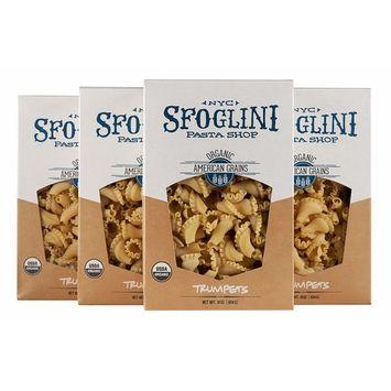 Sfoglini Organic Durum Semolina Trumpets Pasta, 16 Ounce, 4 Count [Organic Trumpets]