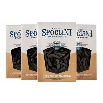 Sfoglini Cuttlefish Ink Spaccatelli Pasta, 16 Ounces, 4 Count [Cuttlefish Ink Spaccatelli]