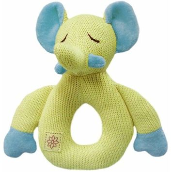 Miyim Simply Organic Kint Rattle Teether, Elephant, 0-3 Months (Discontinued by Manufacturer)