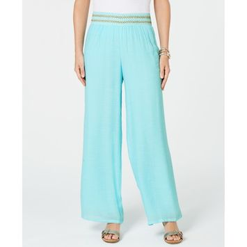 Embellished Cold-Shoulder Top & Pull-On Pants, Created for Macy's