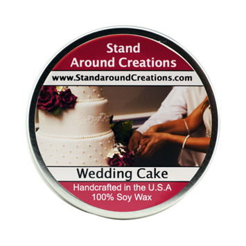 WEDDING CAKE TIN 8-OZ.