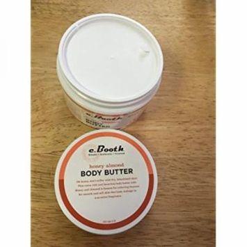 c. booth body butter, honey almond, 8 oz
