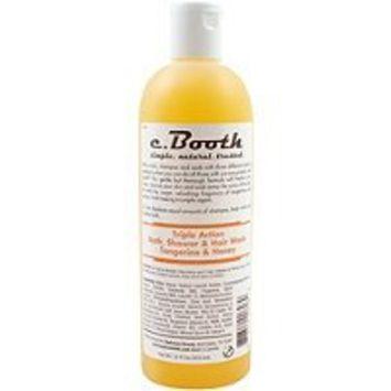 c. Booth Triple Action Bath, Shower & Hair Wash, Tangerine & Honey, 16 oz