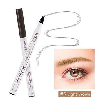 Tattoo Eyebrow Pencil, Three Tips Long Lasting Tint Dye Cream,Waterproof,Smudge-Proof Brow Gel (B)
