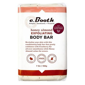 C.Booth Body Bar Honey Almond 7 Ounce (Exfoliating) (207ml)
