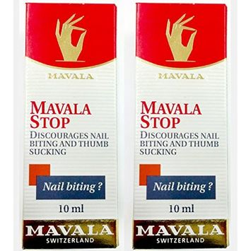 2 Pack of Mavala Stop for Nail Biting and Thumb Sucking,10 ml/0.3 oz each
