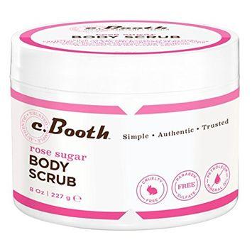 C.Booth Body Scrub Rose Sugar 8 Ounce (236ml)