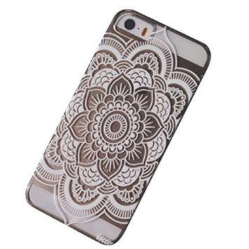 ABC(TM) 2015, Henna Full Mandala Floral Dream Catcher/Elephant Hindu Ganesh Case Cover for iPhone 5 5S (Dream Catcher)
