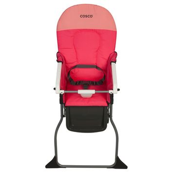 Cosco Simple Fold Plus High Chair - Colorblock Coral