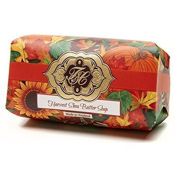 Harvest w/Golden Fall Leaves, Luxury Large Oversized, Beautifully Scented Shea Butter, Soap Bar, Made in England, Triple Milled. Environmentally... [Harvest]