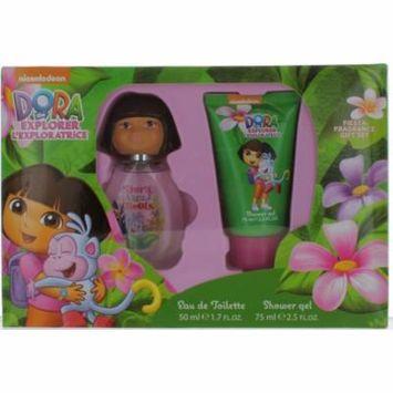 Dora The Explorer by Dora The Explorer for Women Set - EDT Spray 1.7oz + Shower Gel 2.5oz