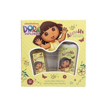 DORA THE EXPLORER by Compagne Europeene Parfums - ADORABLE EDT SPRAY 3.4 OZ & GLITTERY BODY LOTION 8 OZ - WOMEN