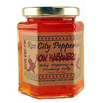 Holy Habanero Jelly: Rose City Pepperheads 12oz. [Habanero]