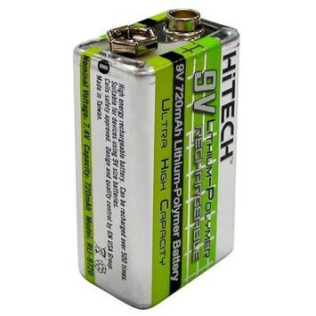 Hitech - One 9V Lithium-Polymer 720mAh Battery 5.33Wh