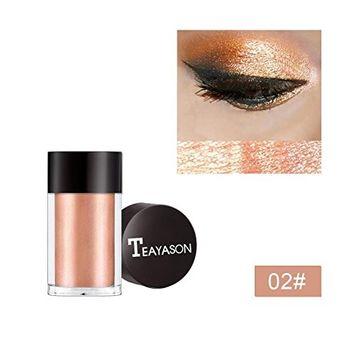 Hunputa Eyeshadow ,Glitter Shimmering Colors Eyeshadow Metallic Eye Cosmetic for Professional Makeup or Daily Use
