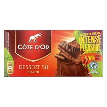 Cote d'Or Praline Dessert 58 , 7oz/200gr , Chocolate Tablet