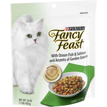 Purina Fancy Feast Dry Cat Food; With Ocean Fish & Salmon - 16 oz. Bag