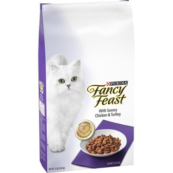 Purina Fancy Feast Dry Cat Food; With Savory Chicken & Turkey - 12 lb. Bag