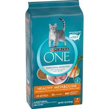 Purina ONE Weight Control, Natural Dry Cat Food; Healthy Metabolism - 7 lb. Bag