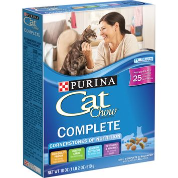 Purina Cat Chow Dry Cat Food; Complete - 18 oz. Box