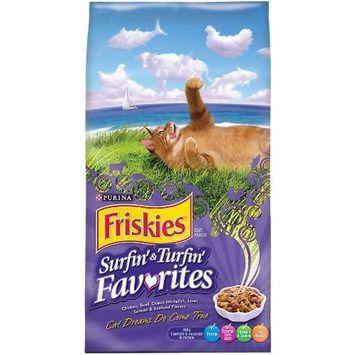 Purina Friskies Surfin' & Turfin' Favorites Adult Dry Cat Food [Standard Packaging]
