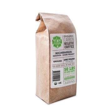 Tiny Footprint Coffee - The World's First Carbon Negative Coffee | Fair Trade Organic Nicaragua Segovia Dark Roast, Ground Coffee | 16 Ounce [Ground]