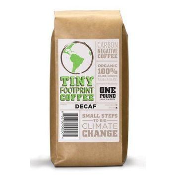 Tiny Footprint Coffee Organic Signature Blend Decaf, Ground Coffee, 1 Pound [Ground]