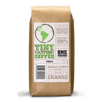 Tiny Footprint Coffee - The World's First Carbon Negative Coffee | Organic Peru APU Medium Roast, Ground Coffee | 16 Ounce [Ground]